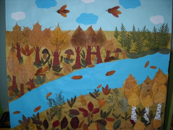 Поделки из осеннего материала на тему лес