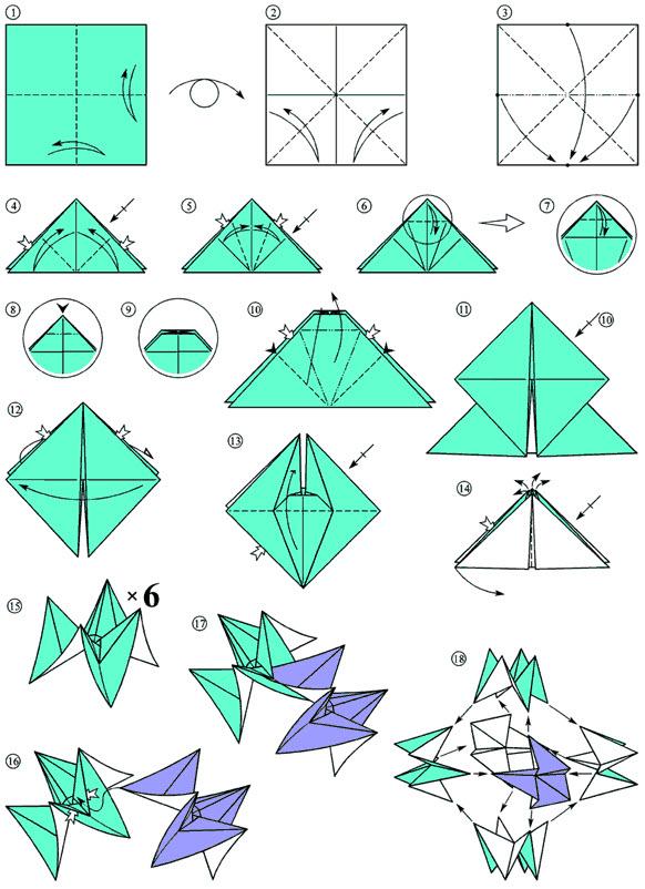 новогодние игрушки оригами