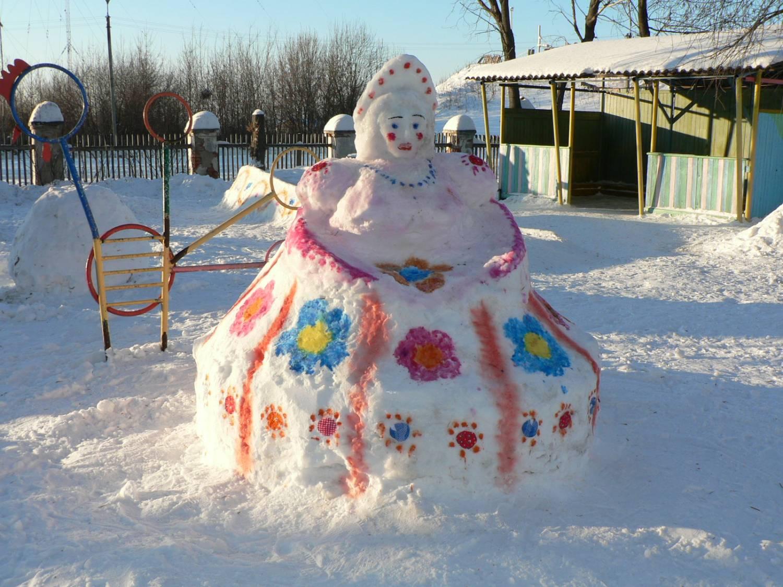 Зима. поделки из снега