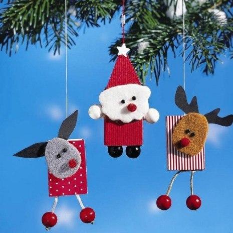 Как сделать новогоднюю игрушки детские