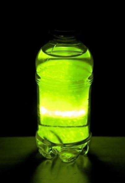Как сделать светящийся воду в домашних условиях без люминола