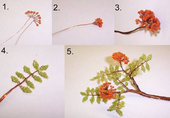 Поделки из бисера деревья своими руками схемы