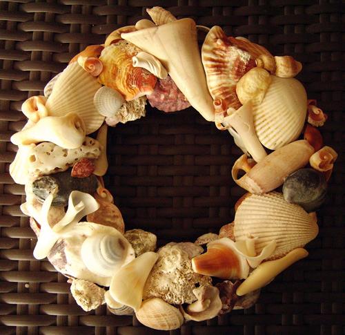 Поделки из мелких ракушек - 8 Ноября 2012 - Своими руками, детские, поделки, фото, дача, дом, сад