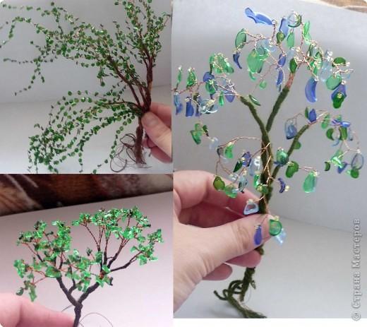 Как сделать своими руками дерево из пластиковых бутылок своими руками