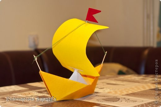 Как сделать паруса для кораблика из бумаги