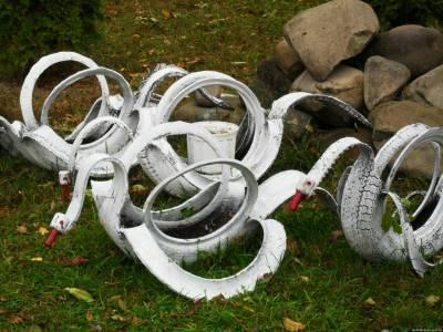 Поделки для огорода своими руками из шин